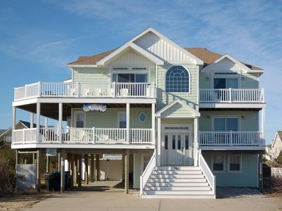 Photo for SemiOcean Front 7+ Bedroom House w/Pool, Hot Tub, Wrap Around Decks, Beds for 22