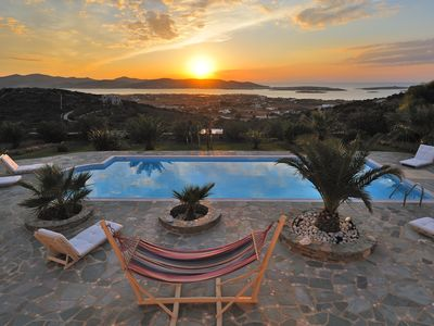 Photo for Luxury Villa Panorama with breathtaking sea view!