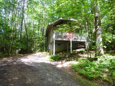 Photo for Bear Paw #7(1 bedroom Queen)Private; secluded.Hot tub cottage;Pet Friendly