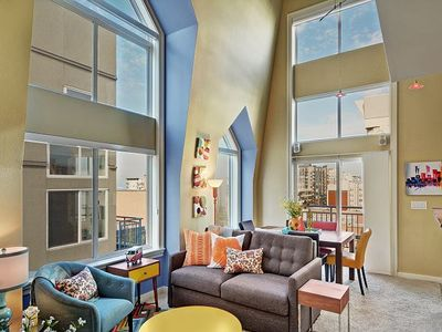 Photo for The Belltown Court Sunset Suite with Water Views and Room for 6!