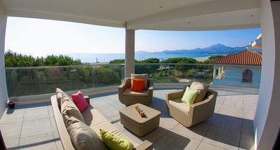 Photo for LUXURIOUS T3 OF 70m2- AIR-CONDITIONED - ON THE BEACH-GRANDETERRASSE- WIFI-