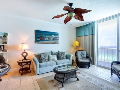 Photo for Bright beachfront condo w/ shared pool, beach access, and stunning views!