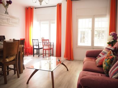 Photo for Practical and comfortable apartment in the center. 5 minutes from the beach.