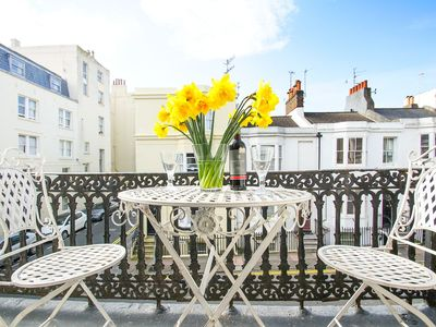 Photo for Sillwood Balcony Apartment: 1 bedroom, sleeps 2, balcony, near seafront, WiFi