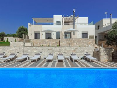 Photo for Luxury 2Bedroom Villa Maisonette 2km from Beach with shared pool sleeps 5