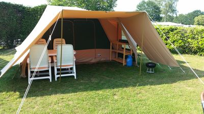 Photo for Comfortable, spacious and furnished 4 person tent