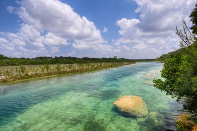 One and Half Miles of Crystal Clear Nueces River on the Property.
