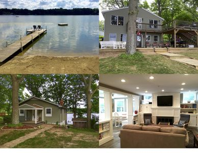 Beautifully renovated luxury lake cottage with private sand beach!