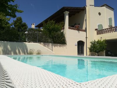 Photo for Charming country house with pool 3 km from the sea.6 ROOMS, 4 BATHROOMS
