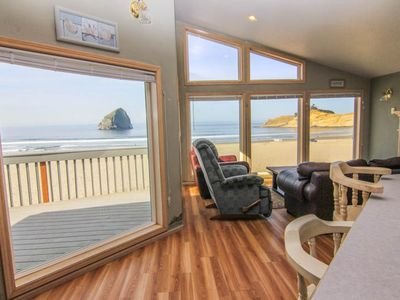 Photo for Outstanding Beachfront Views of Haystack Rock in Pacific City, Sleeps 12