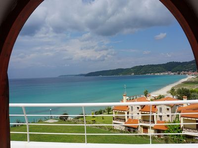 Photo for Maisonette with amazing sea and mountain view next to a wonderful beach