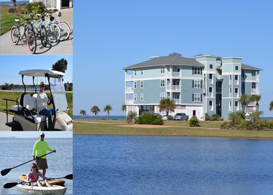 INCREDIBLE LOCATION!!!  Comes with Kayaks, Bicycles, & Golf Cart