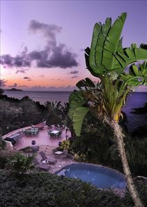 Another stunning sunset from the Sunset Watch Poolside Villa porch.