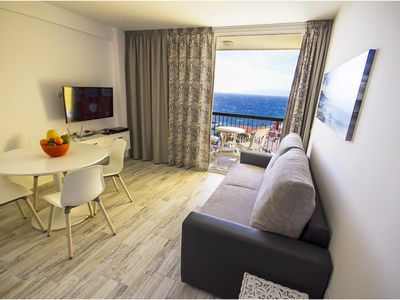 Photo for Penthouse, Sea View Balcony, WiFi, 200m from the Beach, SAT TV, Refurbished