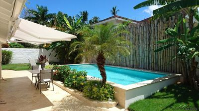 Photo for Modern House - 3 Bedrooms A/C - 3 Bath - Private Pool&Garden - 250M Beach/Bars/Rests/Kite