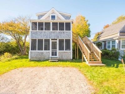 Multi-family beach cottage #1. Just STEPS to Long Sands beach!