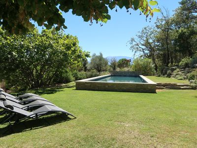Photo for Mas with heated pool - exceptional views of the ventoux