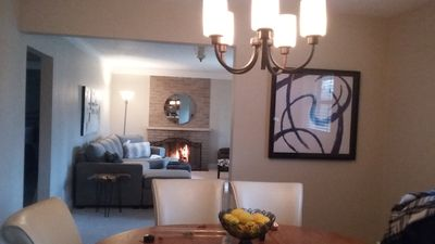 Winter haven - enjoy a cozy fire after a long day.