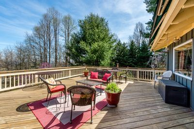 Deck - Enjoy the blue skies from the large back deck.