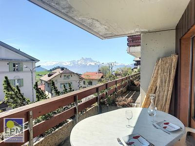 Photo for Cime de l'Est A6 Apartment with 2 1/2 rooms, about 46m2 in a small apartment house, chalet style, si