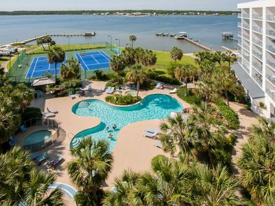 Photo for GS Surf Racquet 701 A ~ Lovely Water View and Grounds ~  Bender Vac Rentals
