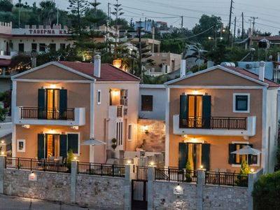 Photo for This 3-bedroom villa for up to 4 guests is located in Panormos and has a private swimming pool, air-