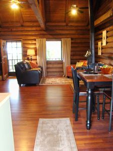 Photo for Charming Log Cabin in the Heart of Wine Country