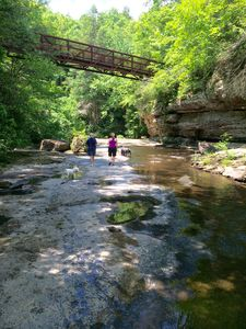 Hike to the swimming hole along Wolf Creek