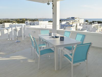 Photo for Blu OltreMare Apartment - with panoramic terrace -