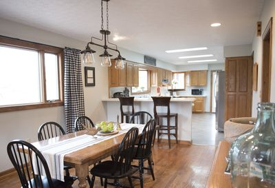 Spacious and open kitchen and dining