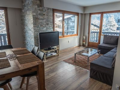 Photo for Great central location next to forest and ski lifts,spacious renovated apartment
