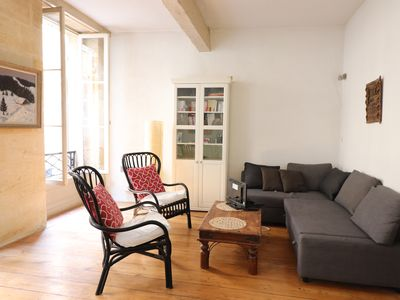 Photo for Character stone 1 bedroom apartment with terrace in the heart of Bordeaux