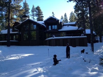 January 4, 2013- A winter wonderland in our backyard at Black Butte!