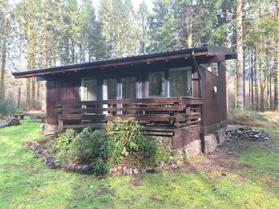 Photo for Authentic log cabin in a lovely forest location close to stunning Loch Awe