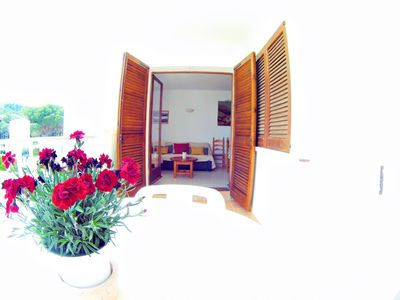 Photo for Apartment Mila: less than 90m from the beach Cala Montgó, with POOL, TENNIS