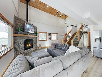 Photo for New Listing! Modern Blue River Gem w/ Fireplace & Mountain-View Deck