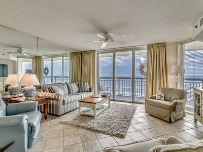 Photo for Crescent Shores 611, 3 Bedroom Beachfront Condo, Hot Tub and Free Wi-Fi!