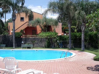 Photo for Apartment in Residence with swimming pool 15 minutes from Taormina