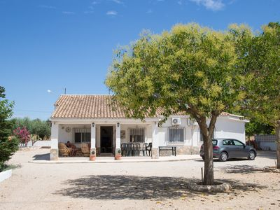 Photo for Quiet, 4 bedroom private villa, air-con and large pool in Ontinyent, Valencia.