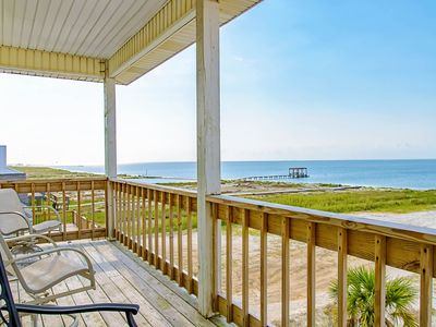 Photo for NEW LISTING! Charming beach-front home w/spacious wrap-around porch