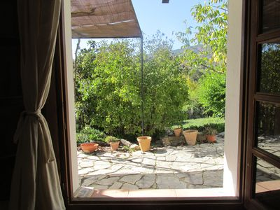 View onto your shaded terrace