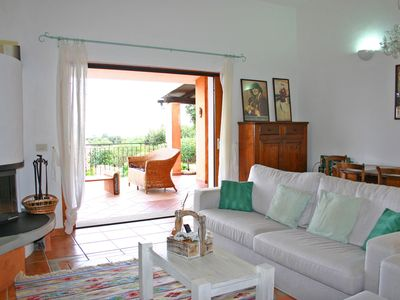 Photo for Sardinian villetta with garden and sea views