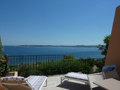 Photo for LUXURY TERRACE HOUSE 6 guests SAINTE-MAXIME stunning view on SAINT-TROPEZ bay
