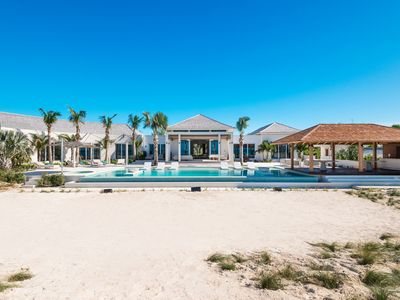 Photo for Exquisite 8  Bedroom Beach Front villa located on Grace Bay - Free Concierge Credit Included
