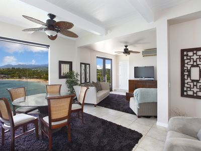Photo for OceanFront 2 bedroom suite with AC on the Kalapaki Cliff!