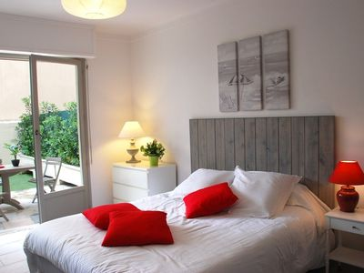 Photo for Very bright studio with terrace and garden in full center of Cannes