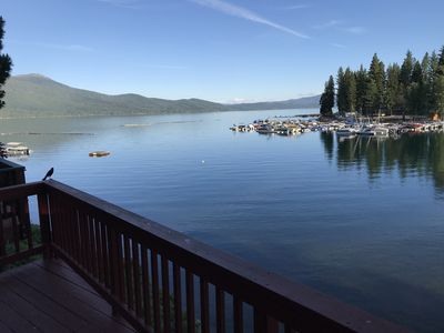 Adorable Lakefront Cabin with boat slip, seasonal beach & incredible view!