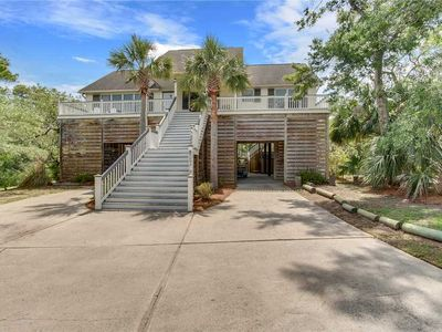 Photo for 4 Red Sunset - Spacious and secluded pet friendly Folly Beach home with a private pool!