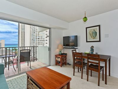 Photo for Ocean and City Views from this Comfortable Waikiki Condo & Free Parking!