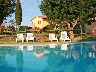 Photo for Nice and spacious apartment with Wi-Fi, BBQ pool and campag view